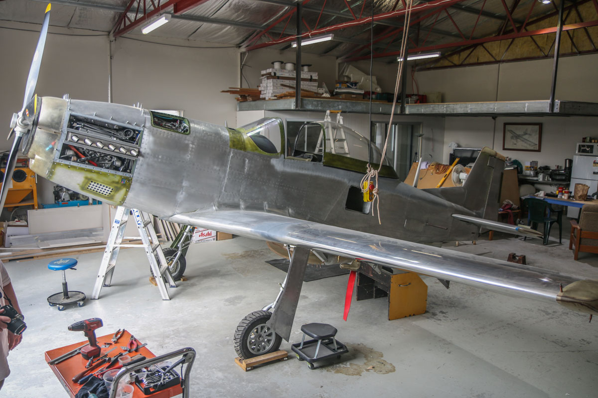Unregistered Titan T-51 Mustang owned by Luis Ricardo at Serpentine Airfield – Sat 21 March 2015. This type was designed by John Williams as a three-quarter scale replica kit-built version of the North American P-51 Mustang. This example has been under construction by Luis Ricardo since 2008, and is not yet registered. Photo © David Eyre