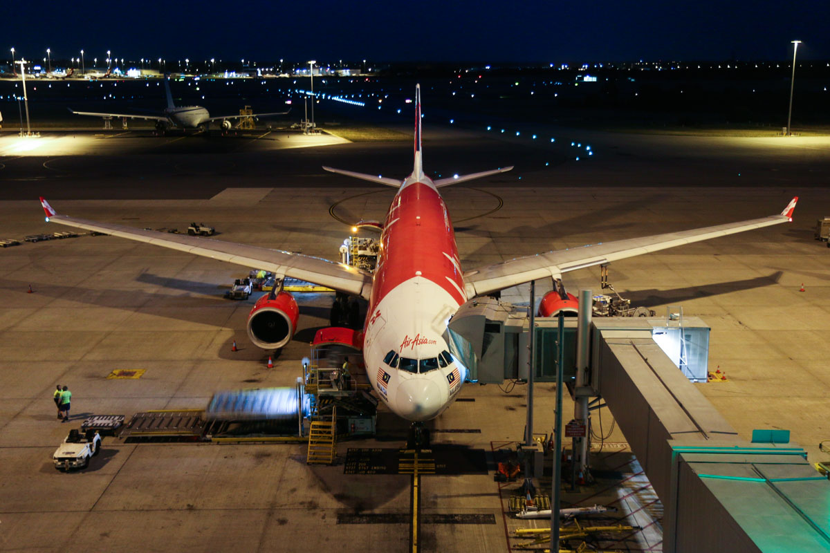 9M-XXD Airbus A330-343X (MSN 1066), named 'Soaring Xpectations', of AirAsia X at Perth Airport – Wed 1 April 2015. Flight D7236 from Kuala Lumpur, parked at Bay 53 at 5:52am. Photo © David Eyre