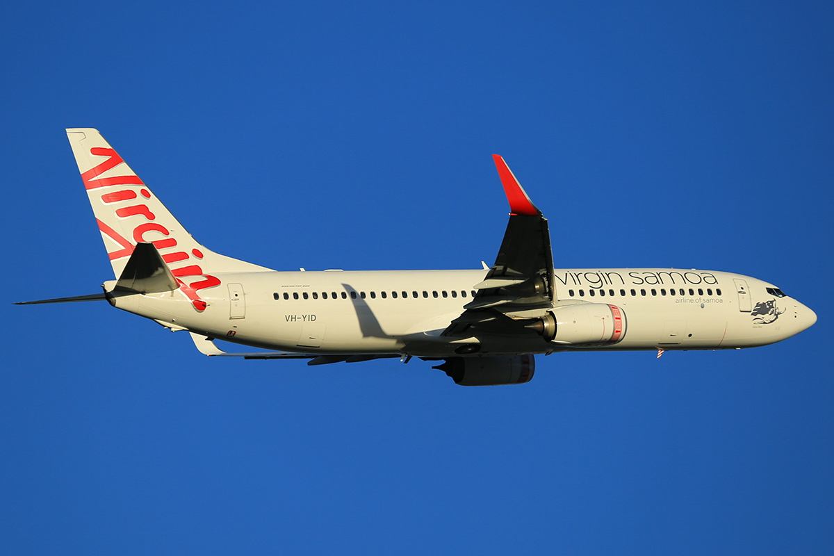 VH-YID Boeing 737-8FE (MSN 38709) of Virgin Australia at Perth Airport – 13 April 2015.