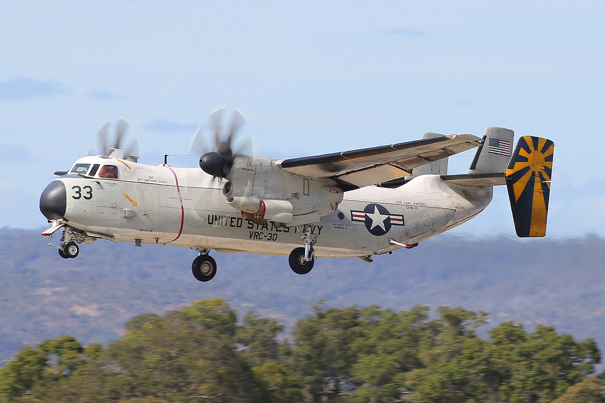 162175 Grumman C-2A Greyhound (MSN 55) of US Navy of US Navy at Perth Airport - 25 April 2015.