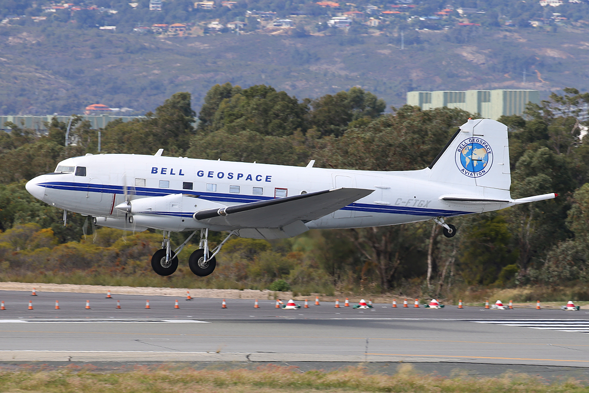 C-FTGX Basler BT-67 (Douglas DC-3C) (MSN 25769) of Bell Geospace at Perth Airport – 25 April 2015.