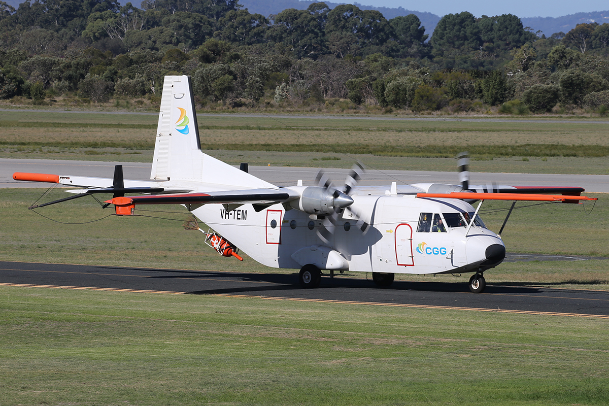 VH-TEM CASA C-212-200 (C-212-CC) (MSN 138) of Fugro Airborne Surveys/CGG Aviation Australia at Jandakot Airport – Thurs 25 Sept 2014.