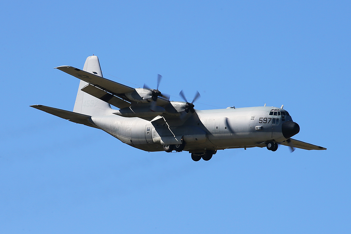 164597 Lockheed C-130T-30 of US Navy, over Bullsbrook – 17 April 2015.