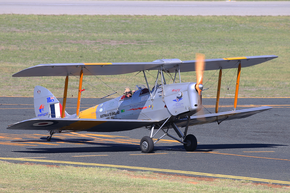 VH-NOV De Havilland DH-82A Tiger Moth (MSN DHA1088) of Barry Markham at Jandakot Airport – 22 April 2015.