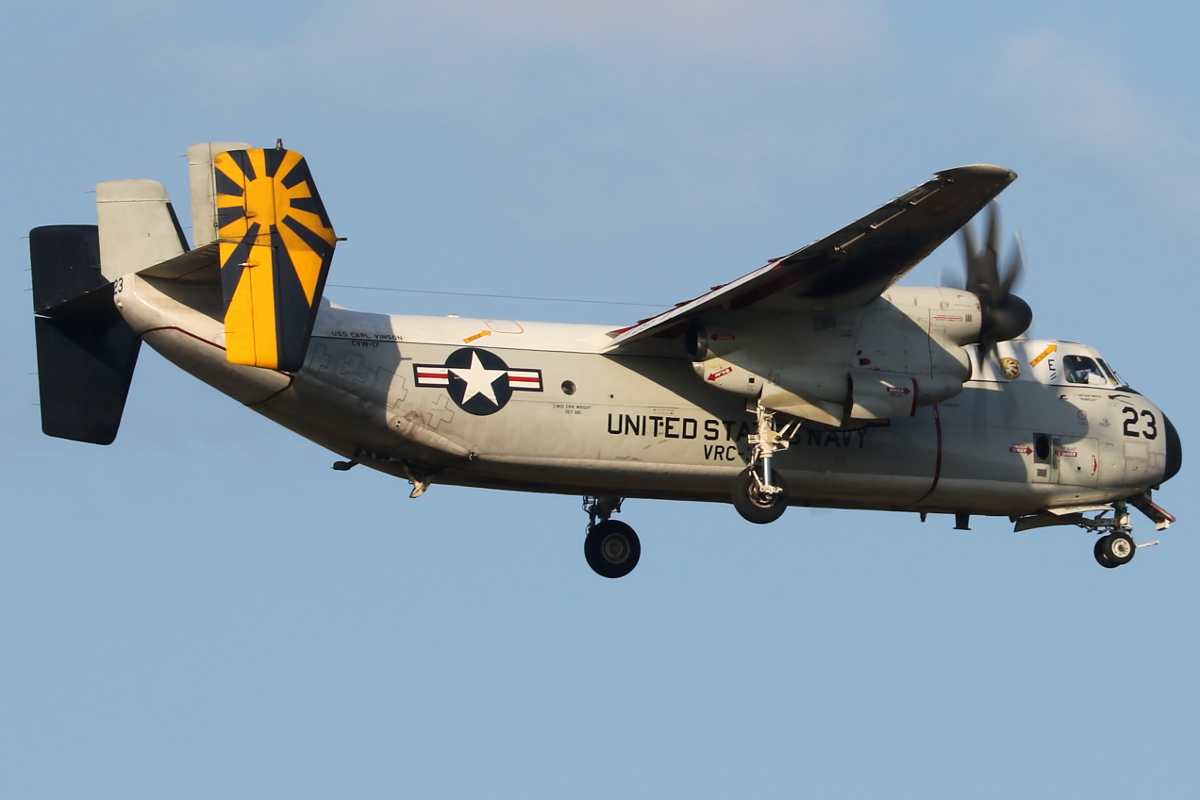 162177 Grumman C-2A Greyhound (MSN 57) of US Navy over Bullsbrook – 23 April 2015.