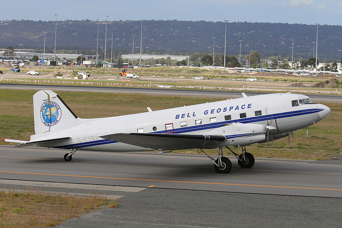 C-FTGX Basler BT-67 (Douglas DC-3C) (MSN 25769) of Bell Geospace at Perth Airport – 30 April 2015.
