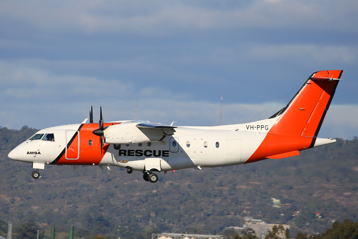 VH-PPG Dornier model 328-100 (MSN 3053) of Aerorescue Pty Ltd at Perth Airport – 20 May 2015.