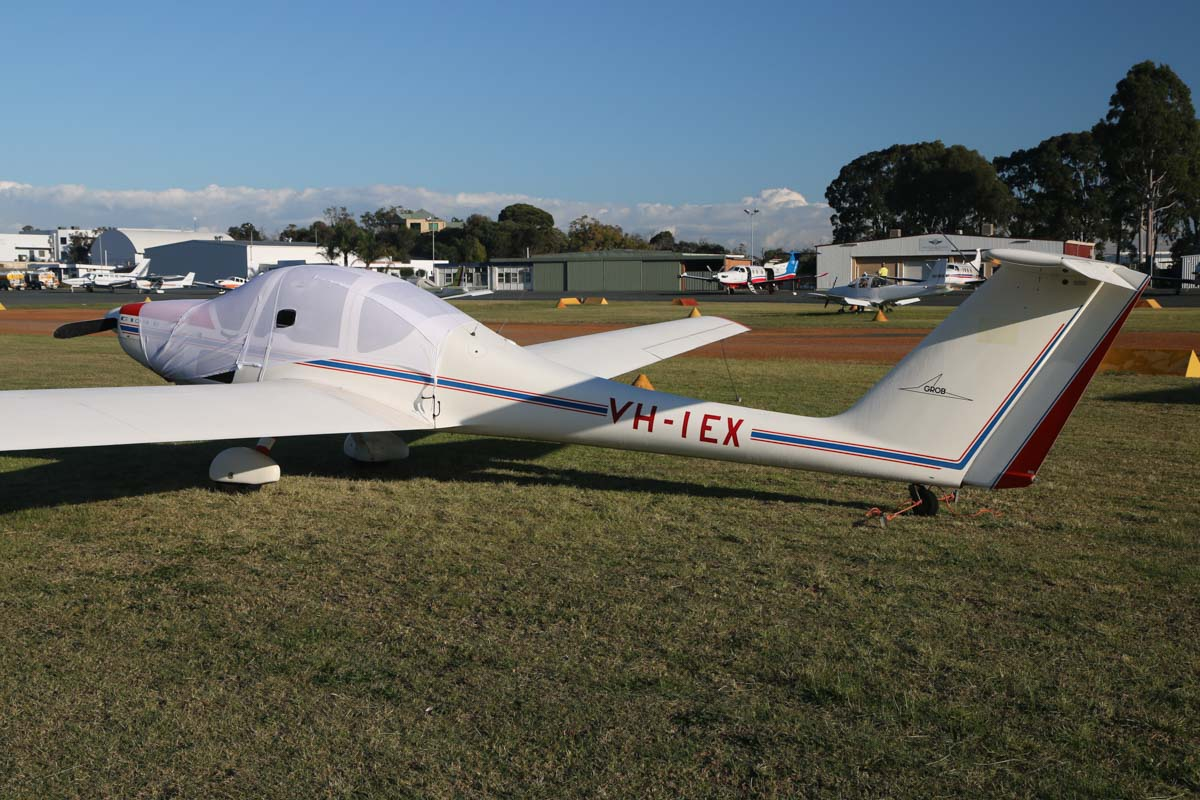 VH-IEX Grob G109B (MSN 6247) owned by William Verboom, of Narrogin, WA, at Jandakot Airport - Sat 23 May 2015. Built in 1984, ex D-KGFX. Photo © David Eyre