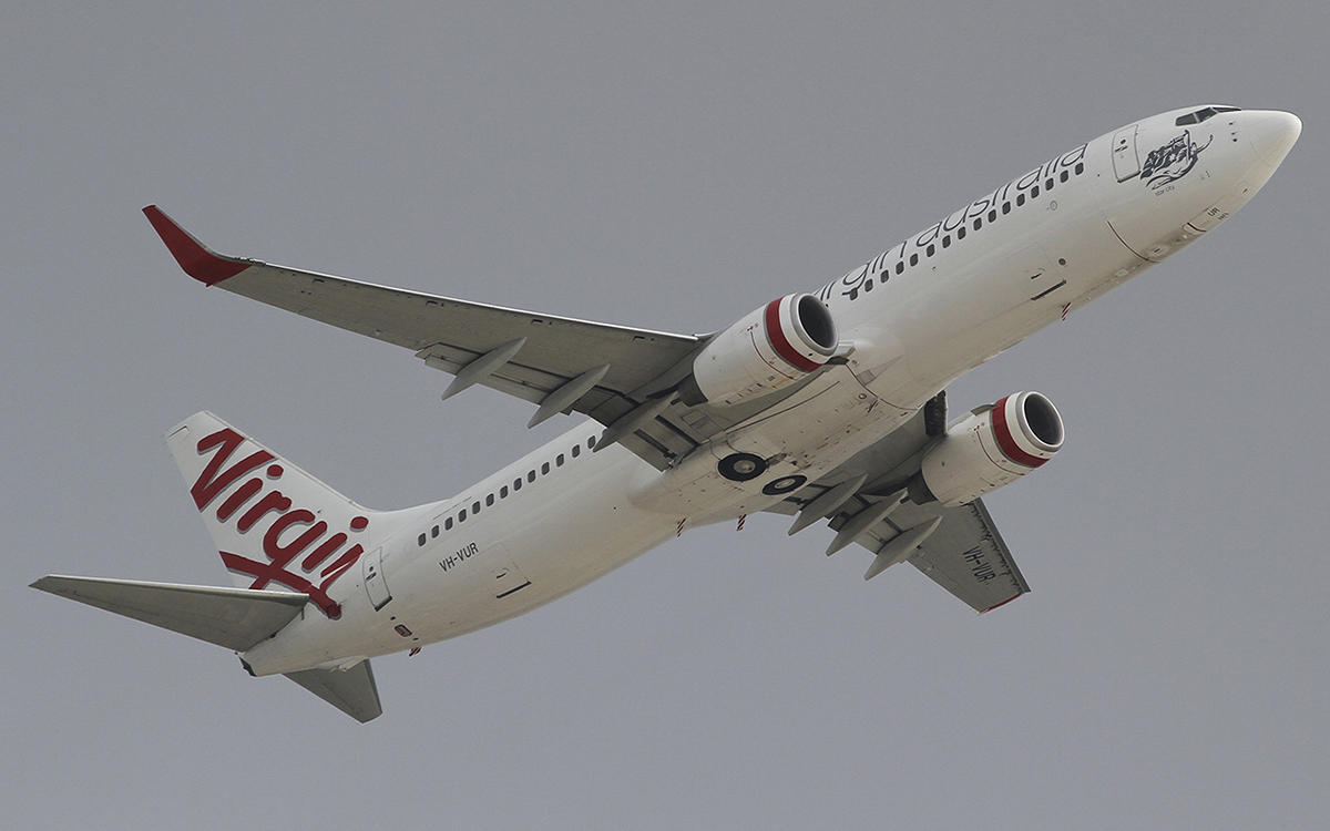 VH-VUR Boeing 737-8FE(WL) of virgin Australia at Perth Airport – 6 June 2015.