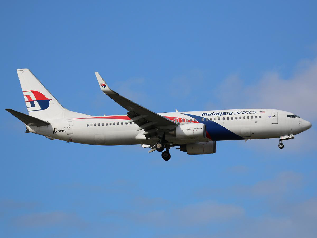 9M-MXB Boeing 737-8H6 (MSN 40129/3458) of Malaysia Airlines, at Perth Airport - Sun 7 June 2015. Flight MH121 from Kota Kinabalu, on final approach to runway 21 at 1:59pm. Photo © Jimmy Leng