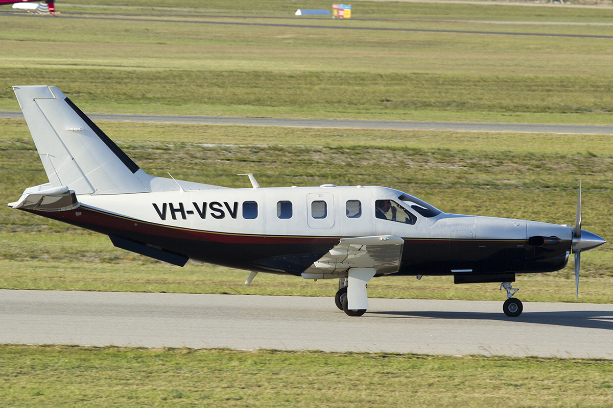 VH-VSV Socata TBM-700 (MSN 173) at Jandakot airport – Sat 13 June 2015.