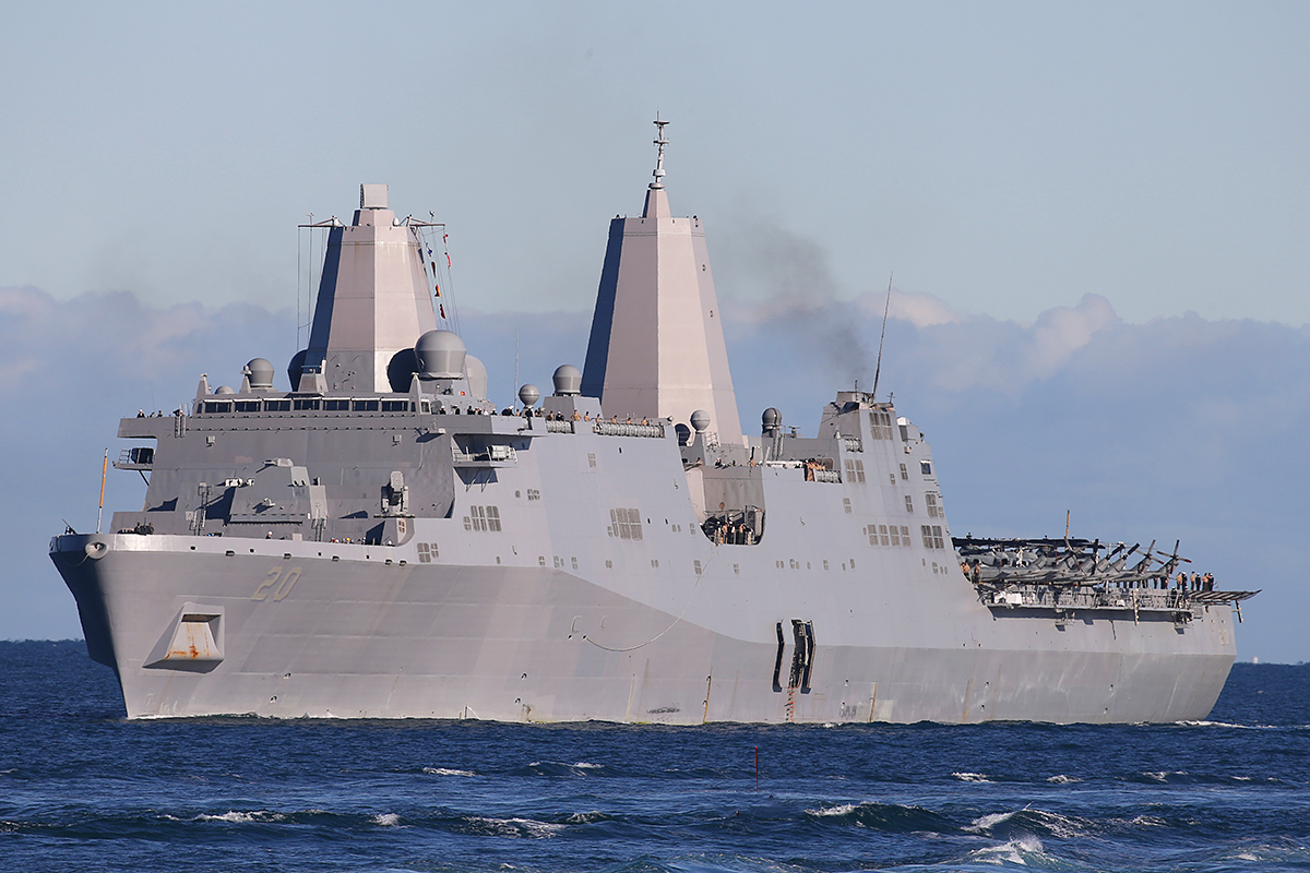 USS Green Bay, a San Antonio class amphibious transport dock at Fremantle – 25 June 2015.