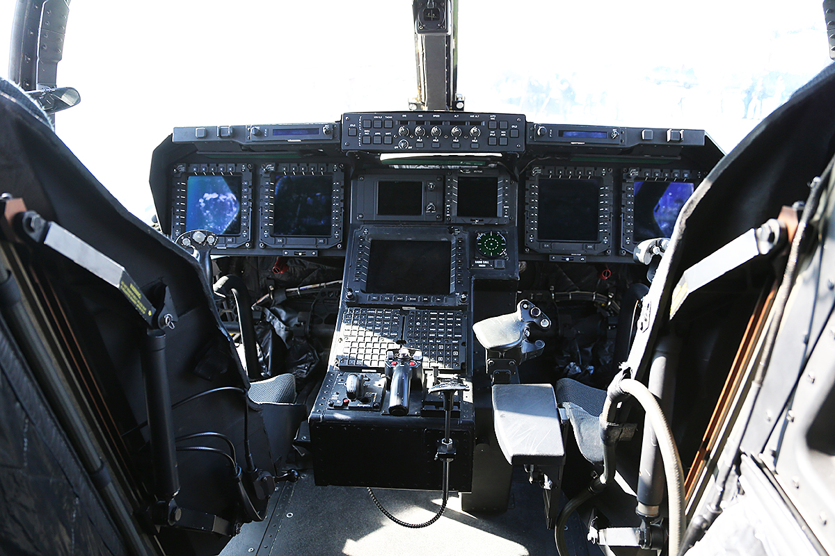 "MV-22B Osprey cockpit of VMM-265 ""Dragons"" embarked aboard USS Bonhomme Richard."