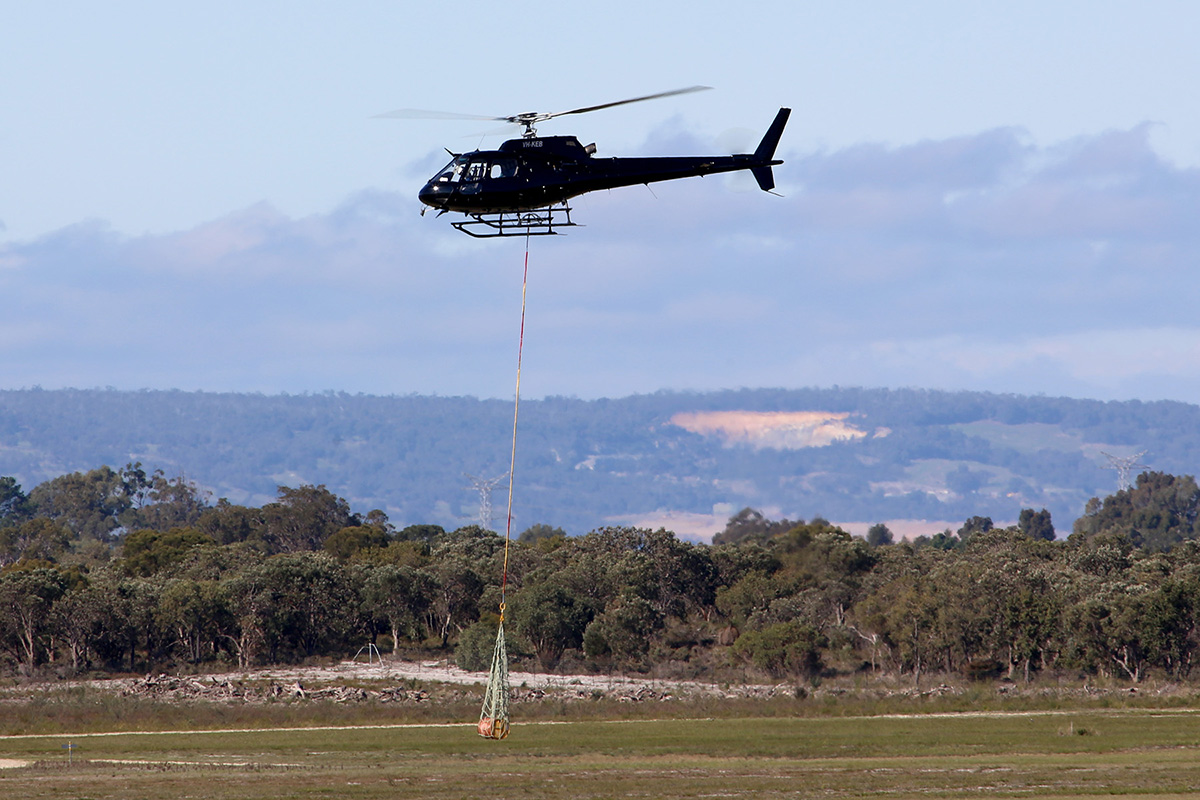 VH-KEB Eurocopter AS350B2 Squirrel (cn 4805) of Heliwest (Power Capital Holdings Pty Ltd) at Jandakot Airport – 27 June 2015.