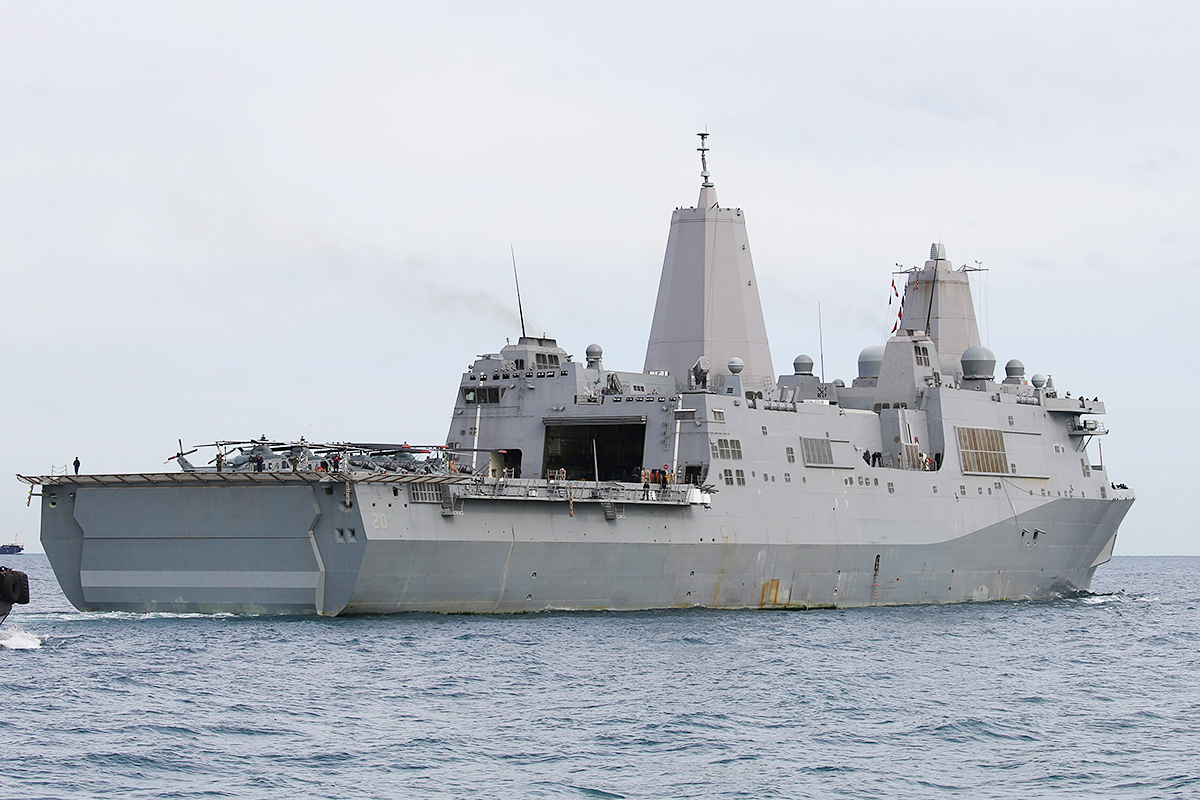 USS Green Bay, a San Antonio class amphibious transport dock at Fremantle – 30 June 2015.
