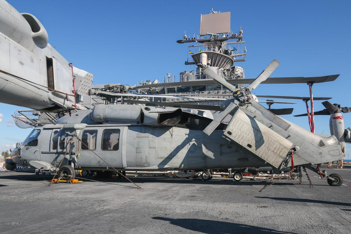167889/RB-03 Sikorsky MH-60S Seahawk (MSN 70-3894) of HSC-25 Detachment 6 'Island Knights', USN, aboard USS Bonhomme Richard (LHD-6), at Fremantle - Fri 26 June 2015. Photo © David Eyre