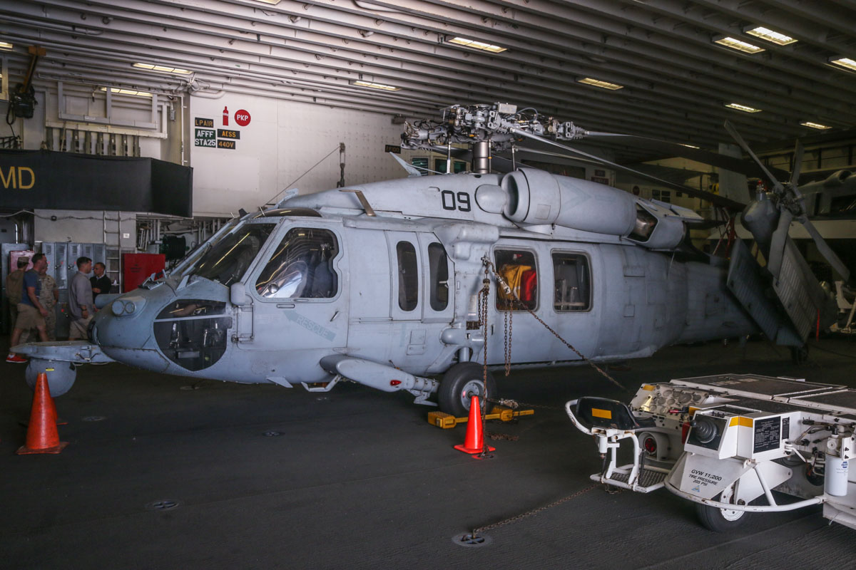 168545/RB-09 Sikorsky MH-60S Seahawk (MSN 70-3965) of HSC-25 Detachment 6 'Island Knights', USN, aboard USS Bonhomme Richard (LHD-6), at Fremantle - Fri 26 June 2015. Photo © David Eyre
