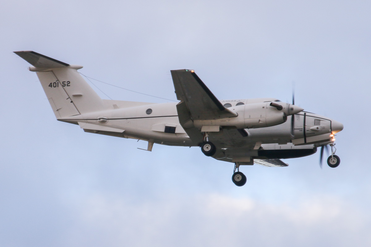 84-00152 Beech C-12U-3 Huron (King Air B200C) (MSN BL-82) of 6th Theater Aviation Battalion, 52nd Aviation Regiment, US Army Aviation, at Perth Airport - Fri 26 June 2015. On final approach to runway 21 at 4:23pm using callsign 'CATS 38', arriving from Darwin via Port Hedland. Based at Atsugi Air Base, Japan. This aircraft is believed to have visited in conjunction with the port visit to Fremantle by the USS Bonhomme Richard Expeditionary Strike Group, prior to Exercise Talisman Sabre 2015. It arrived shortly before Beech C-12J 86-00082. Both aircraft departed on 28 June 2015 at 8:42am - this one used callsign 'CATS 22' on departure back to Port Hedland. Photo © David Eyre