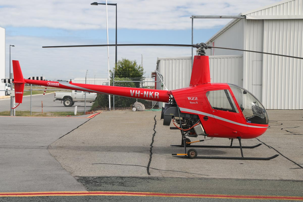 VH-NKR Robinson R22 Beta II (MSN 4600) owned by Colin Lauritsen of Meekatharra, WA, at Jandakot Airport - Fri 26 June 2015. Photo © David Eyre