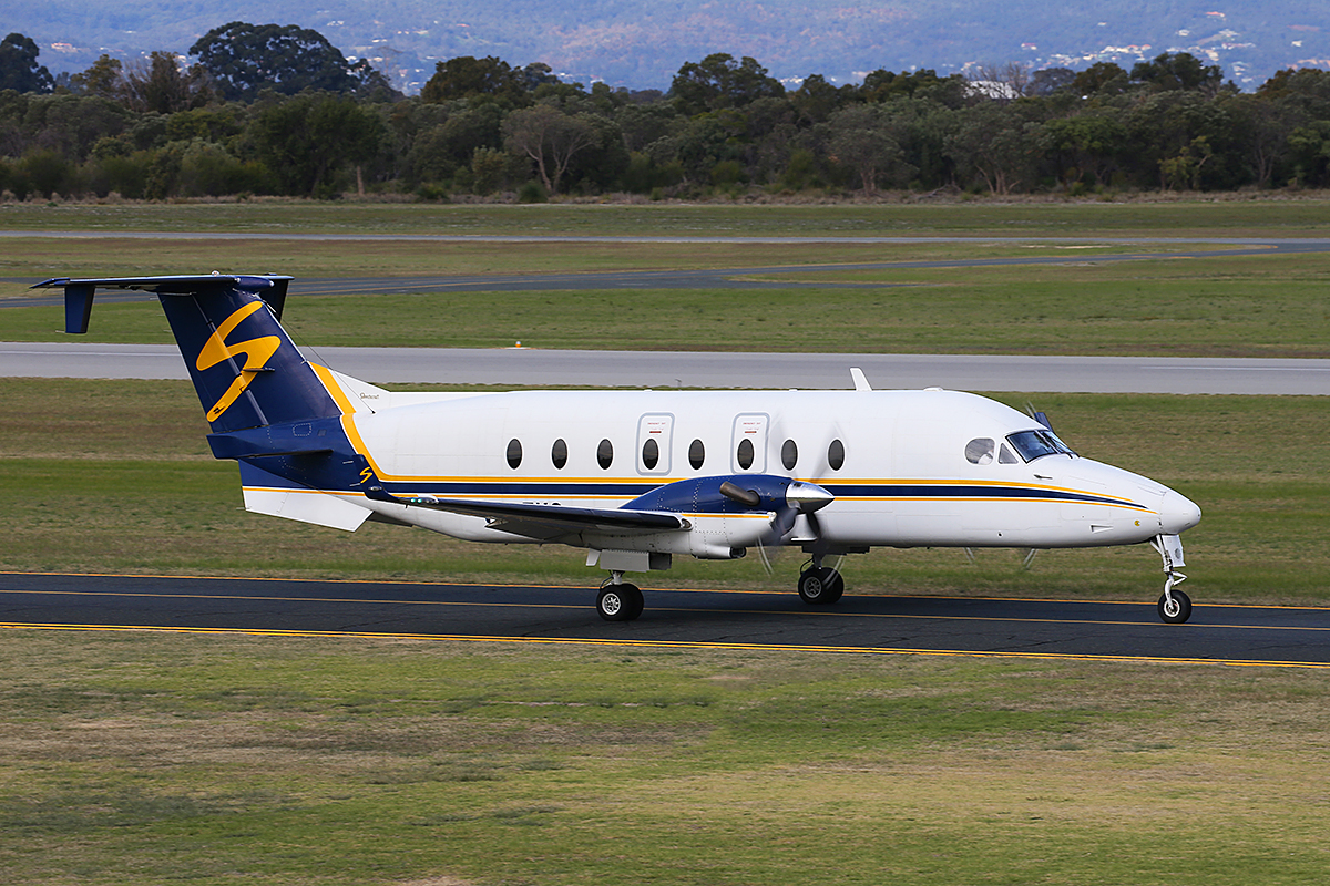 VH-EKG Beech 1900D (MSN UE-135) of Shine Aviation at Jandakot Airport – 30 June 2015.