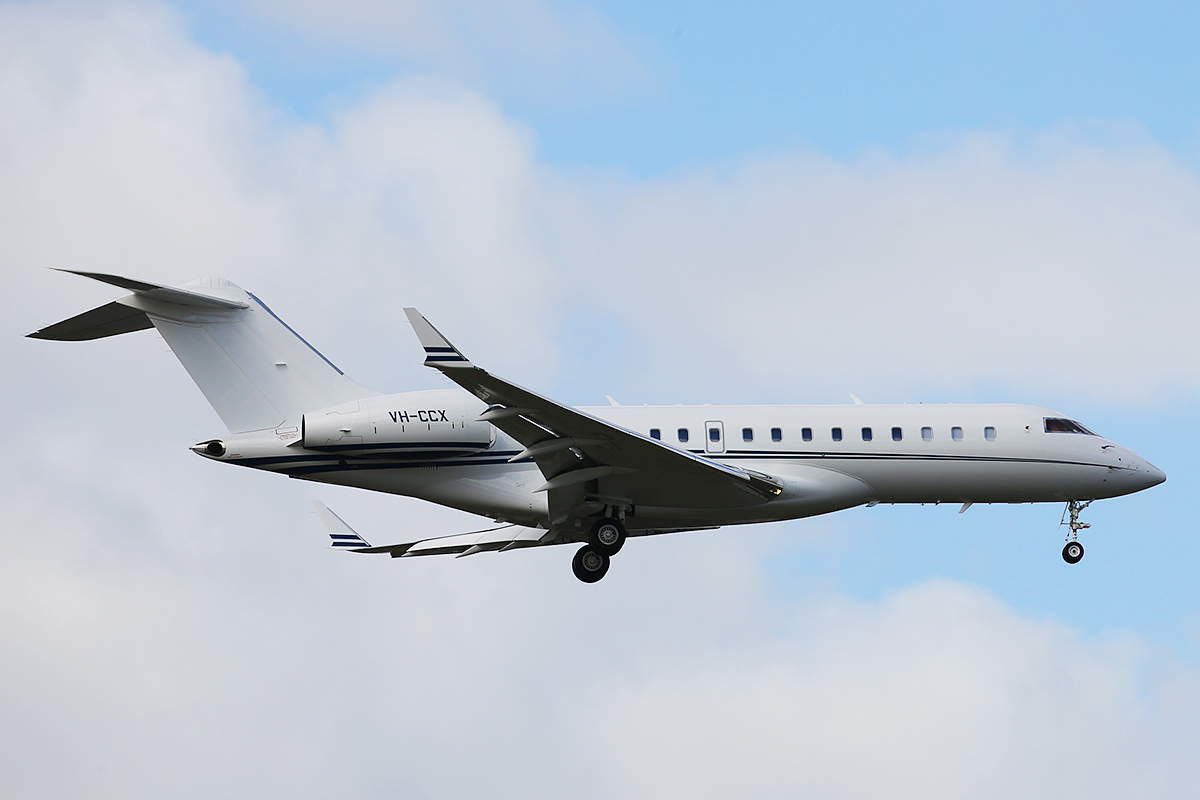 VH-CCX Global Express of crown Casinos at Perth airport – 3 July 2015.
