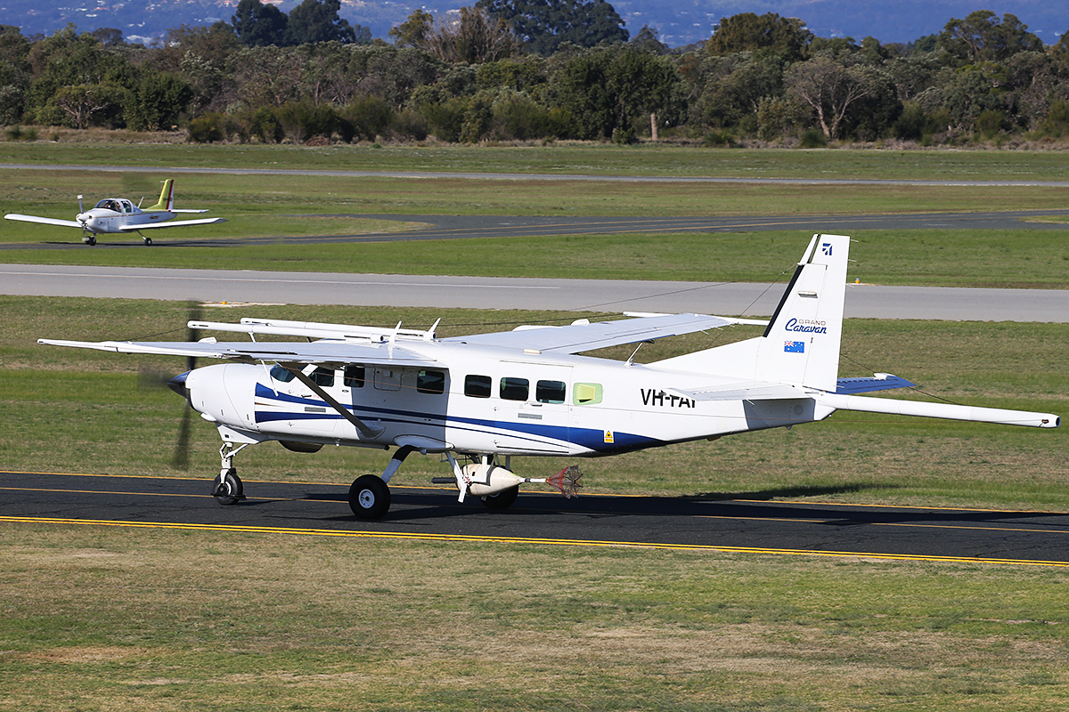 VH-FAY Cessna 208B Supervan 900 (MSN 208B0884) of CGG Airborne at Jandakot Airport – 9 July 2015.