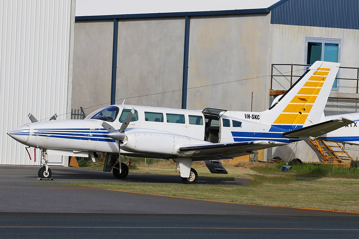 VH-SKC Cessna 404 (MSN 4040404) of Broome Air Services at Jandakot Airport – 9 July 2015.
