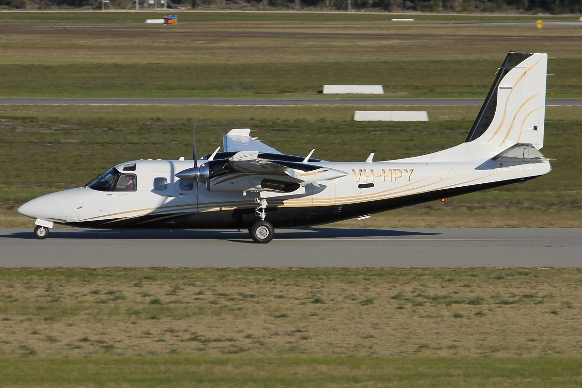 VH-HPY Gulfstream 695A Jetprop Commander 1000 (MSN 96051) owned by Alexandros Karatamoglou of Bunbury, WA, at Jandakot Airport – 15 July 2015.