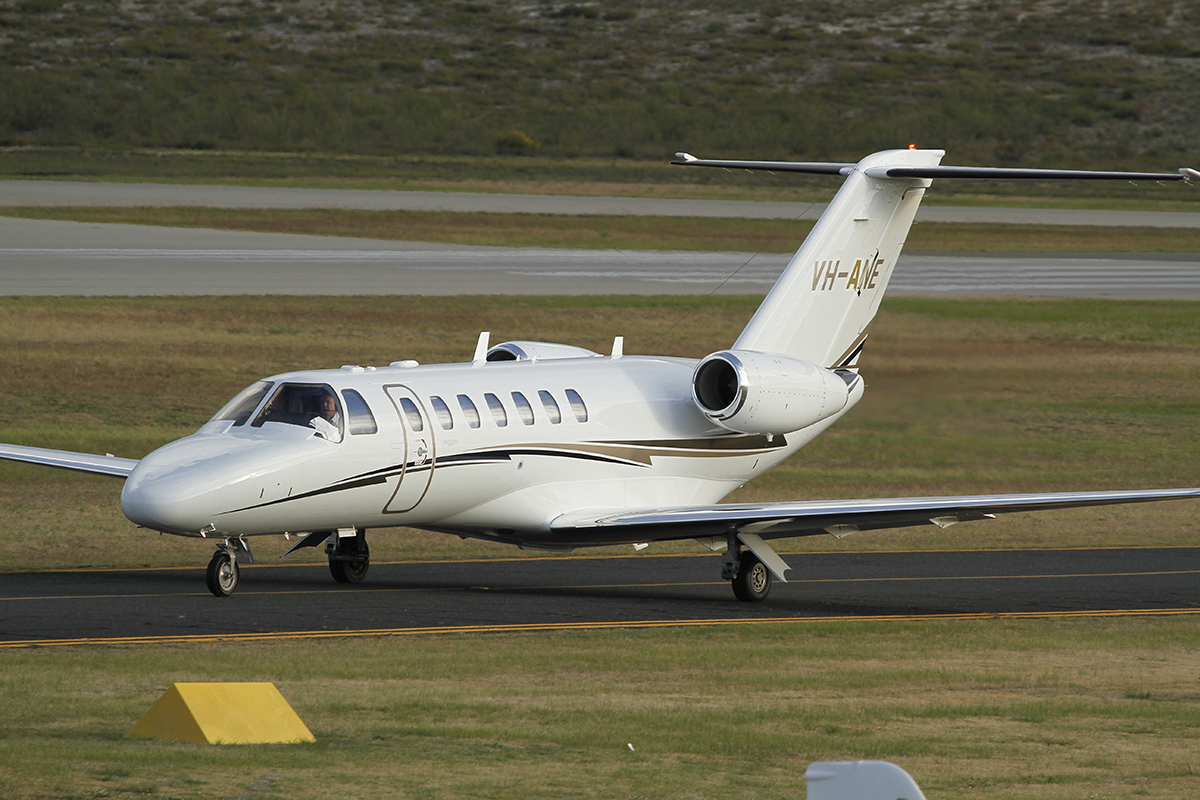 VH-ANE Cessna CJ3 (MSN 525B0196) of Celijet Aviation Services NSW at Jandakot Airport - 20 July 2015.