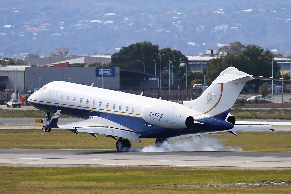 B-KEZ Bombardier BD-700-1A11 Global 5000 (MSN 9425) of TBJ-TAG Aviation Asia at Perth Airport – 27 July 2015.