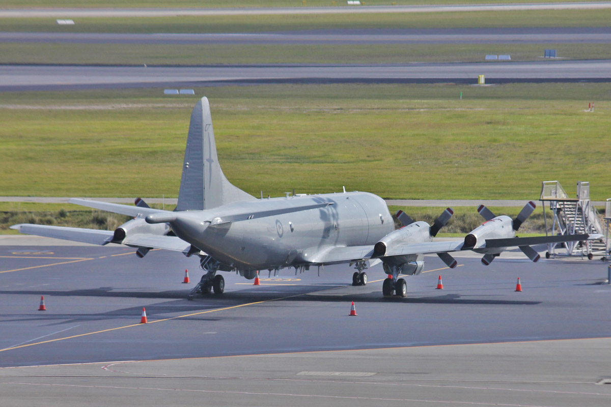 NZ4201 Lockheed P-3K2 Orion (MSN 185-5190) of 5 Squadron, Royal New Zealand Air Force, at Perth Airport - Sat 1 August 2015. Parked at Bay 62, opposite the international terminal (Terminal 1). Arrived as 'KIWI 694' on 30 July 2015. Photo © Jonathan Williams