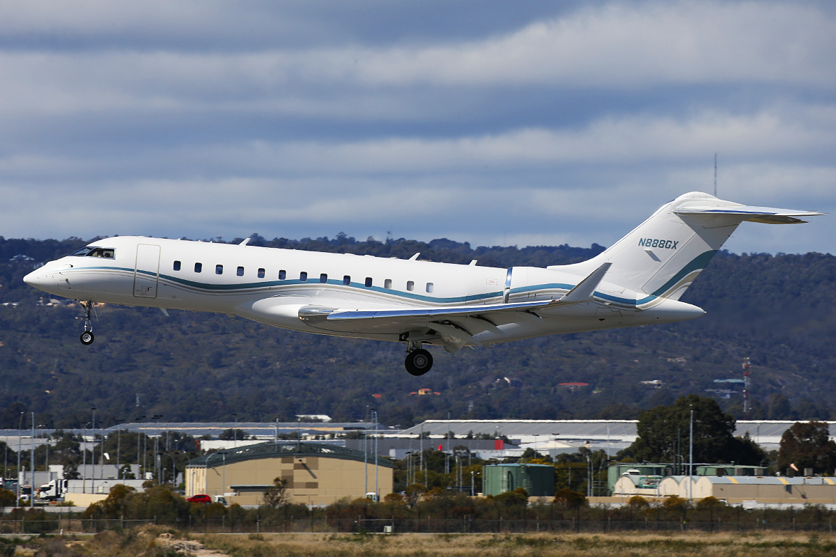 N888GX Bombardier BD-700-1A10 Global Express XRS (MSN 9248) of Remorex Pty Ltd at Perth Airport – 24 August 2015.