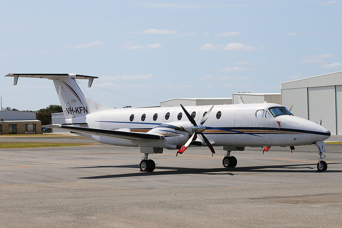 VH-KFN Beech 1900C (MSN UC-173) of AD Astral Aviation Services at Jandakot Airport – 6 Sept 2015.