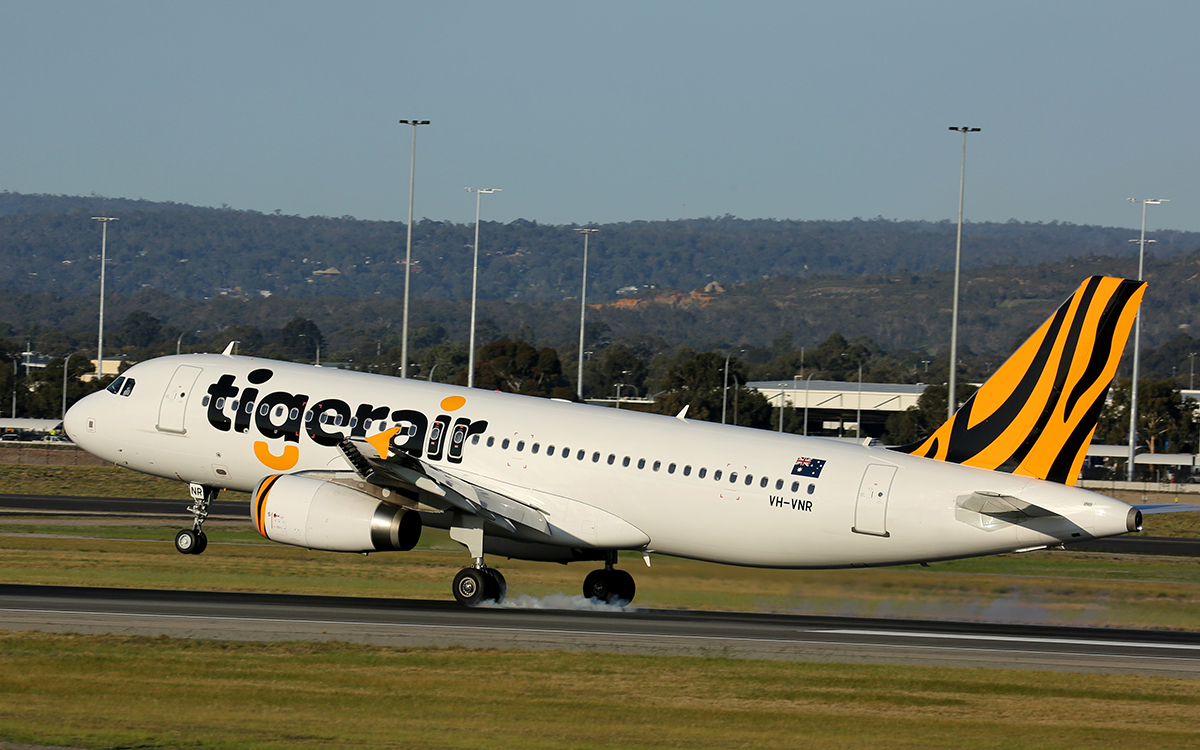 VH-VNR Airbus A320-232 (MSN 5900) of Tigerair Australia, at Perth Airport - 9 Sept 2015.