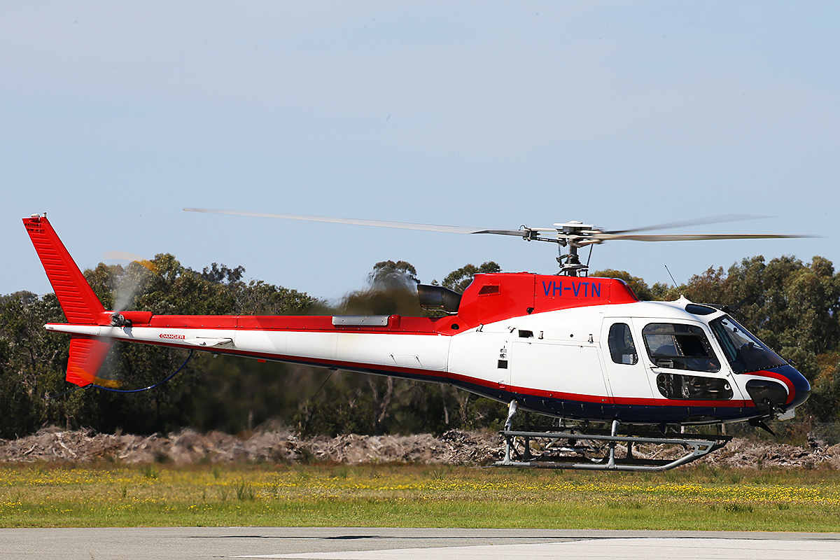 VH-VTN Eurocopter AS350B3 Squirrel (MSN 4527) of Geotech Airborne Pty Ltd, at Jandakot Airport – 8 sept 2015.