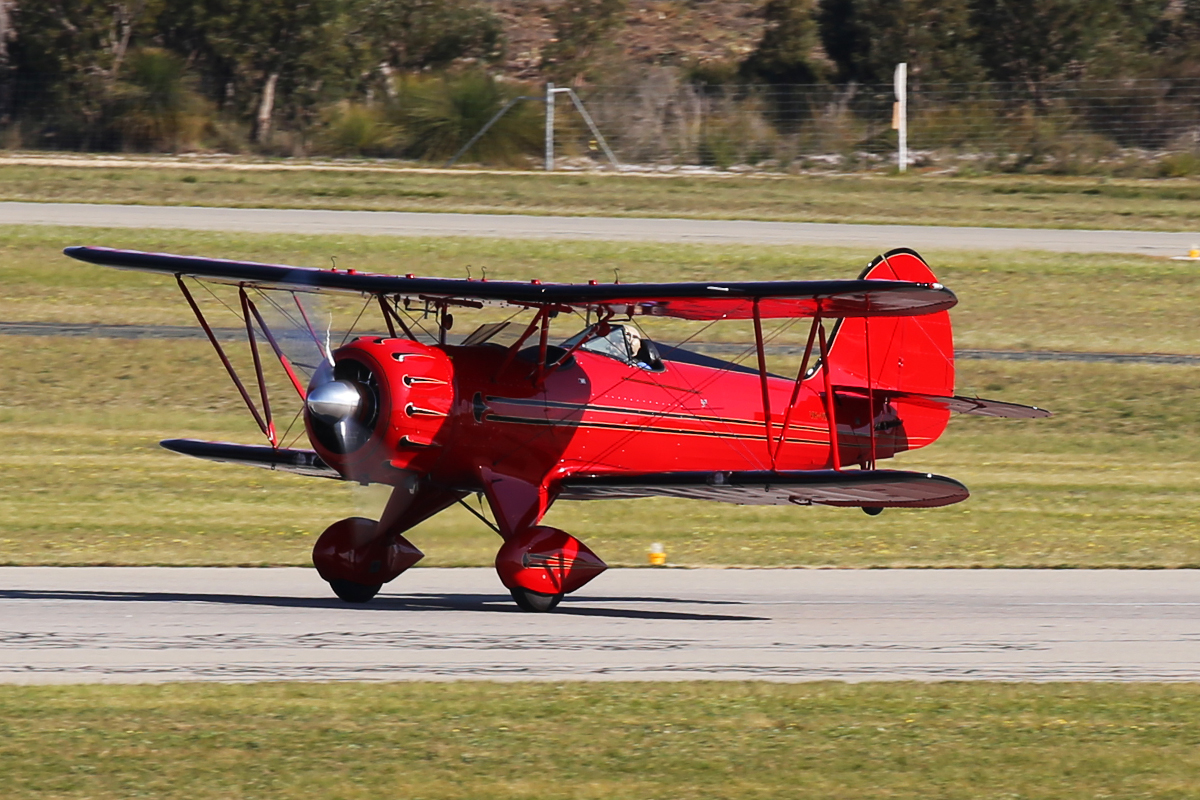 VH-YRB Waco YFM-F5C (MSN F5C105) - at Jandakot Airport – 8 Sept 2015.