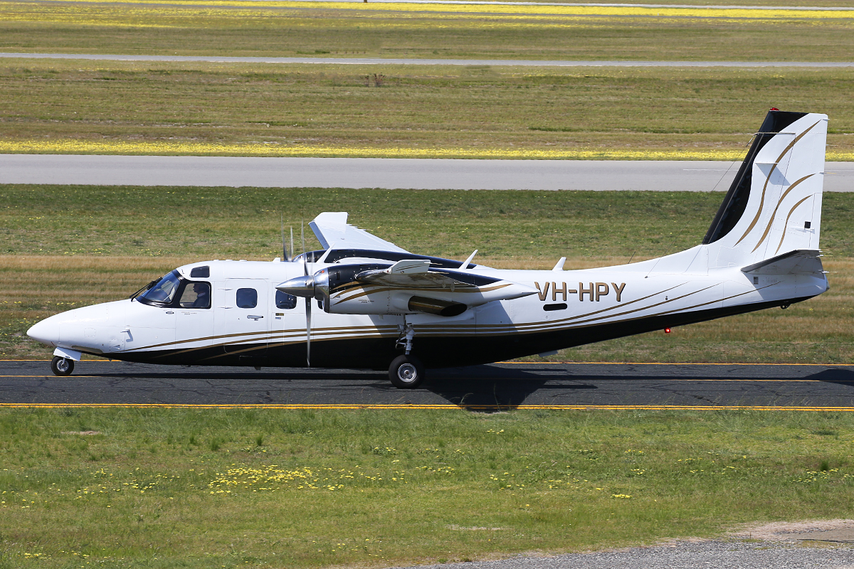 VH-HPY Gulfstream 695A Jetprop Commander 1000 (MSN 96051) at Jandakot Airport – 15 Sept 2015.