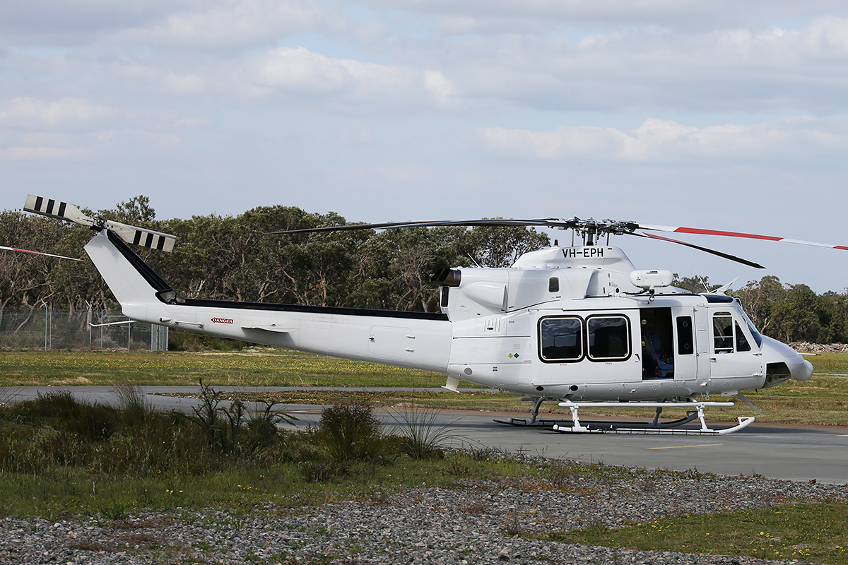 VH-EPH Bell 412EP (MSN 36419) at Jandakot Airport – 19 September 2015.