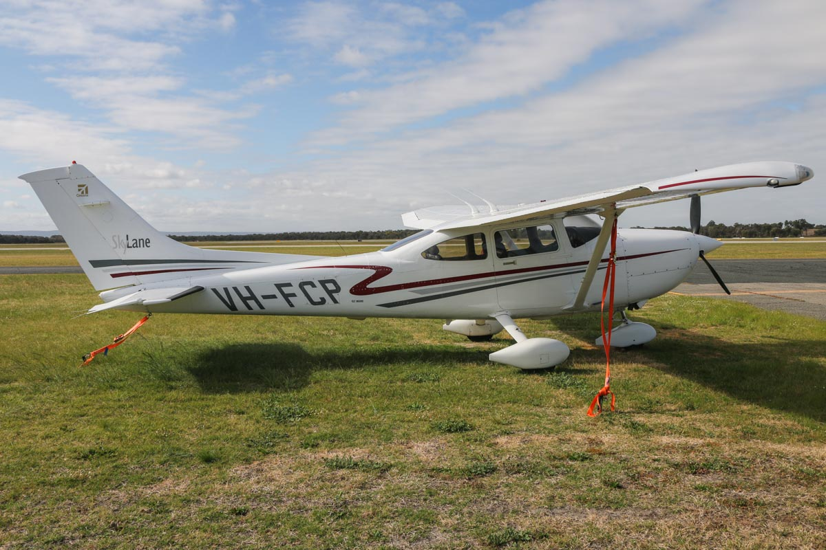 VH-FCP Cessna 182T Skylane (MSN 18281079) owned by David J Bryce, at Jandakot Airport - Sat 19 September 2015. Built in 2001. Photo © David Eyre