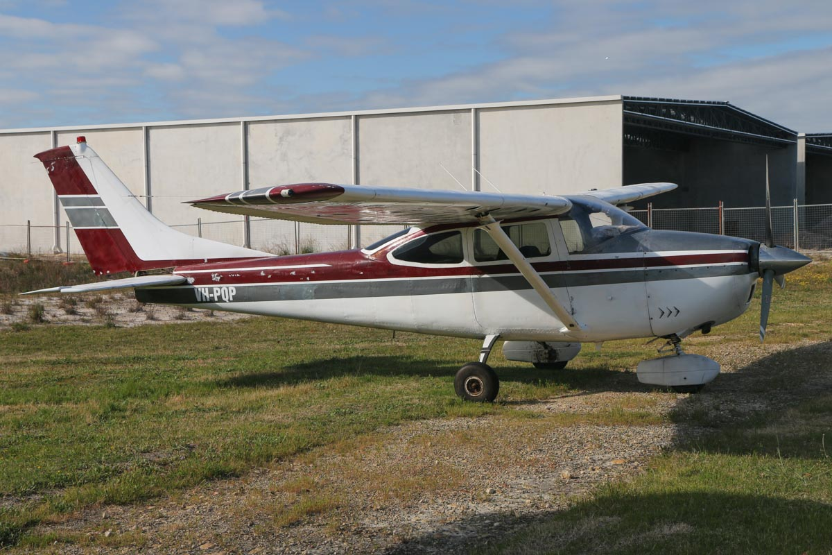 VH-PQP Cessna 182H Skylane (MSN 18256460) owned by Margaret E Prior, of Denham, WA, at Jandakot Airport - Sat 19 September 2015. Built in 1965, ex P2-PQP, VH-PQP, N8360S. Photo © David Eyre