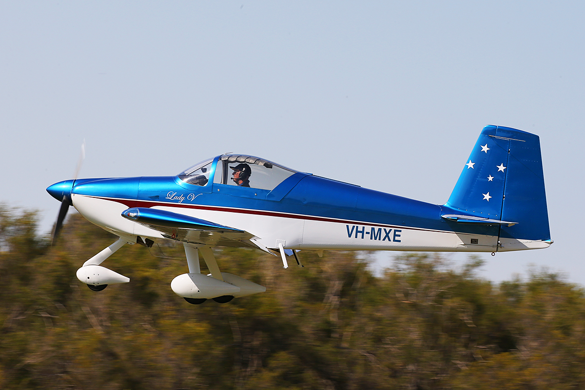 "VH-MXE Vans RV-7A (cn 72100) of Malcolm Vivian, named ""Lady V"", at SABC Annual Fly In, Serpentine Airfield – Sun 27 September 2015."