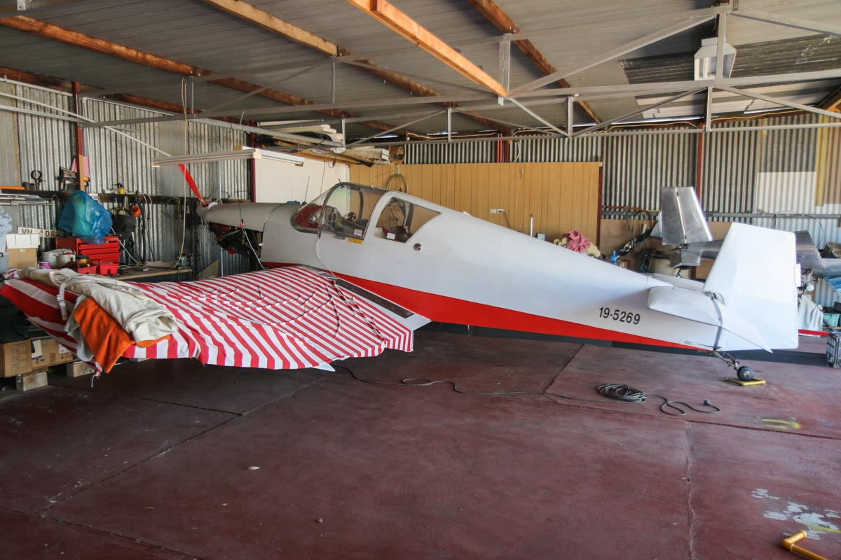 19-5269 Jodel D.11 Sky Prince (MSN N11) at Serpentine Airfield - Sun 27 September 2015. Formerly registered VH-DRJ, this was the first Jodel to be registered in Australia. Photo © David Eyre
