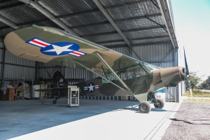 VH-DKD/R-173/54-2463 Piper L-21B (PA-18-135) Super Cub (MSN 18-3863) owned by Marcus Geisler, at SABC Annual Fly In, Serpentine Airfield – Sun 27 September 2015. Built in 1955, ex PH-DKD, (PH-DKH), R-173 Royal Netherlands Air Force, 54-2463 USAF. This aircraft wears its former Royal Netherlands Air Force markings and serial R-173 on the left side, and US Air Fiorce markings and serial 54-2463 on the right side. Photo © David Eyre