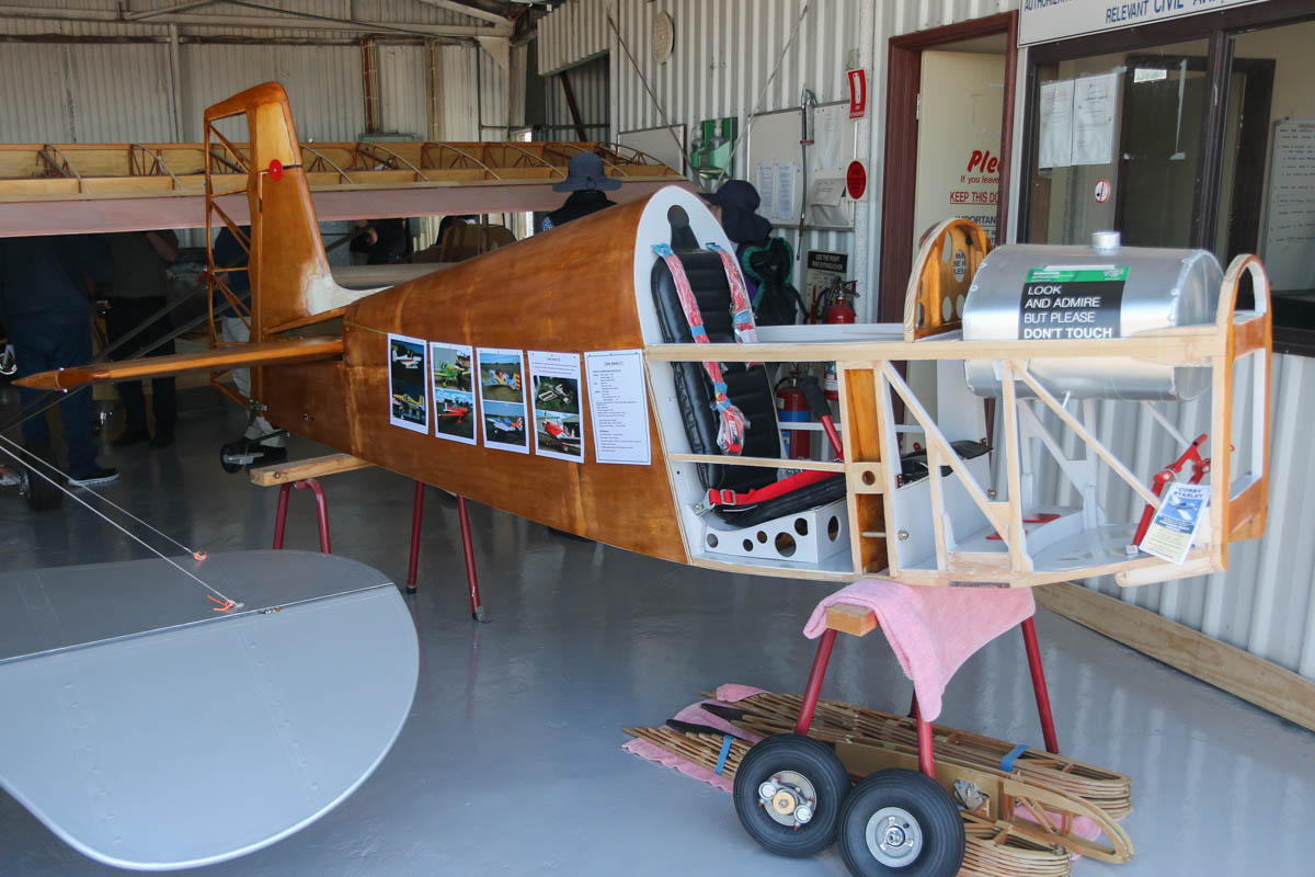 Corby CJ-1 Starlet under construction at Serpentine Airfield - Sun 27 September 2015. Photo © David Eyre