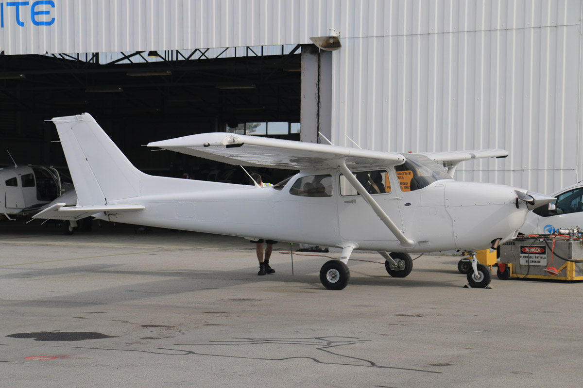 VH-YH? Cessna 172S Skyhawk SP owned by Airflite Pty Ltd, at Jandakot Airport - Fri 2 October 2015. This aircraft is either VH-YHI, YHQ, YHU or YHX, registered in March 2015, but the registration has not yet been painted on the aircraft. Formerly owned and registered in Malaysia by Gulf Golden International Flying College (GGIFA) of Bintulu, Malaysia. Photo © David Eyre