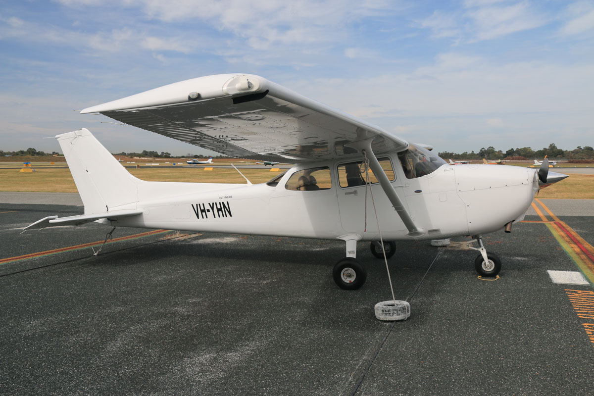 VH-YHN Cessna 172S Skyhawk SP (MSN 172S10836) owned by Airflite Pty Ltd, at Jandakot Airport - Fri 2 October 2015. This aircraft was registered on 16 March 2015, but the registration has only recently been painted on the aircraft. Formerly registered and owned in Malaysia by Gulf Golden International Flying College (GGIFA) of Bintulu, Malaysia. Built in 2008, ex 9M-GAA, N6221F. Photo © David Eyre
