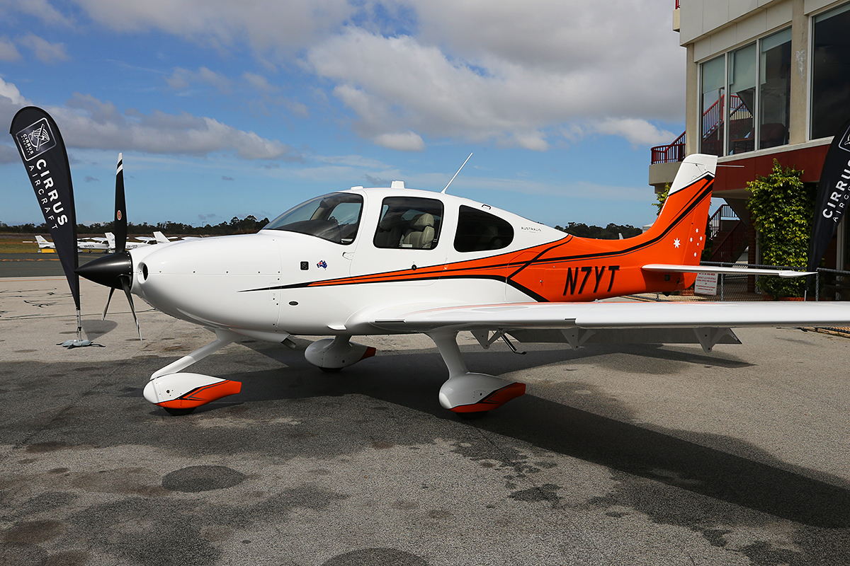 N7YT Cirrus SR-22 Australis Premium (MSN 4219) Demonstrator at Jandakot Airport – 3 Oct 2015 On display for the launch event at the Royal aero Club. Photo © Keith Anderson.