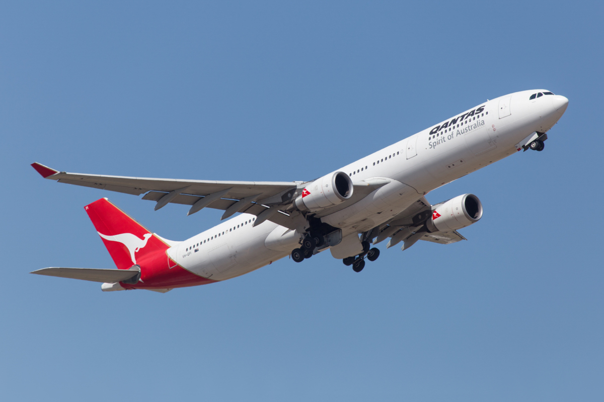 VH-QPI Airbus A330-303 (MSN 705) of Qantas, named 'Cairns', at Perth Airport - Fri 9 October 2015. Qantas A330-300s are not as common in Perth as they once were, mainly being used on international routes from the Eastern States. It is seen here operating QF582 to Sydney, taking off runway 21 at 1:55pm. Photo © Marcus Graff