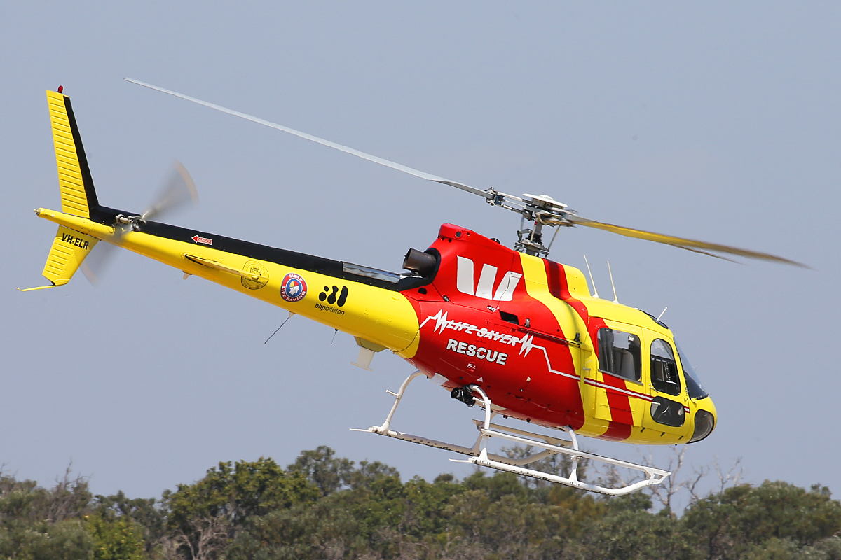 VH-ELR Eurocopter AS350BA Squirrel Soloy Super D1 (MSN 2151, ex JA9790) of Surf Life Saving Western Australia Inc, (leased from Surf Life Saving Queensland Inc), at Jandakot Airport – 13 Oct 2015.