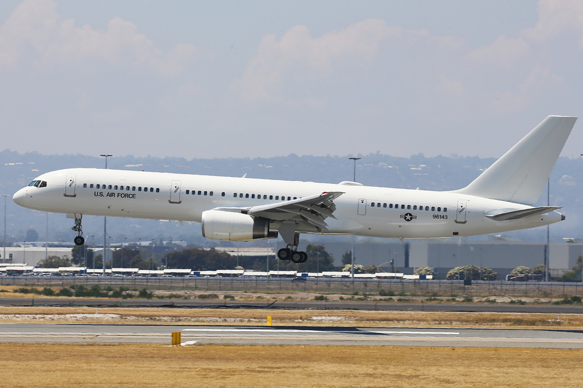 99-6143 Boeing C-32B (757) of United States Air-Force at Perth Airport – 29 October 2015.